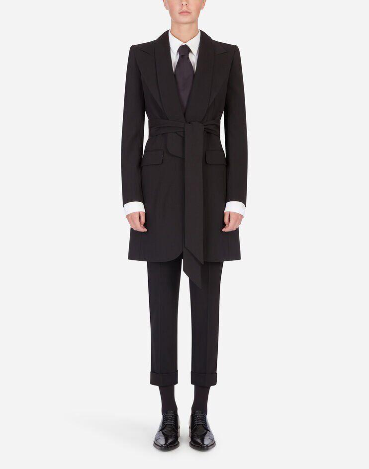 Giacca Cappotto In Lana Stretch - Dolce & Gabbana