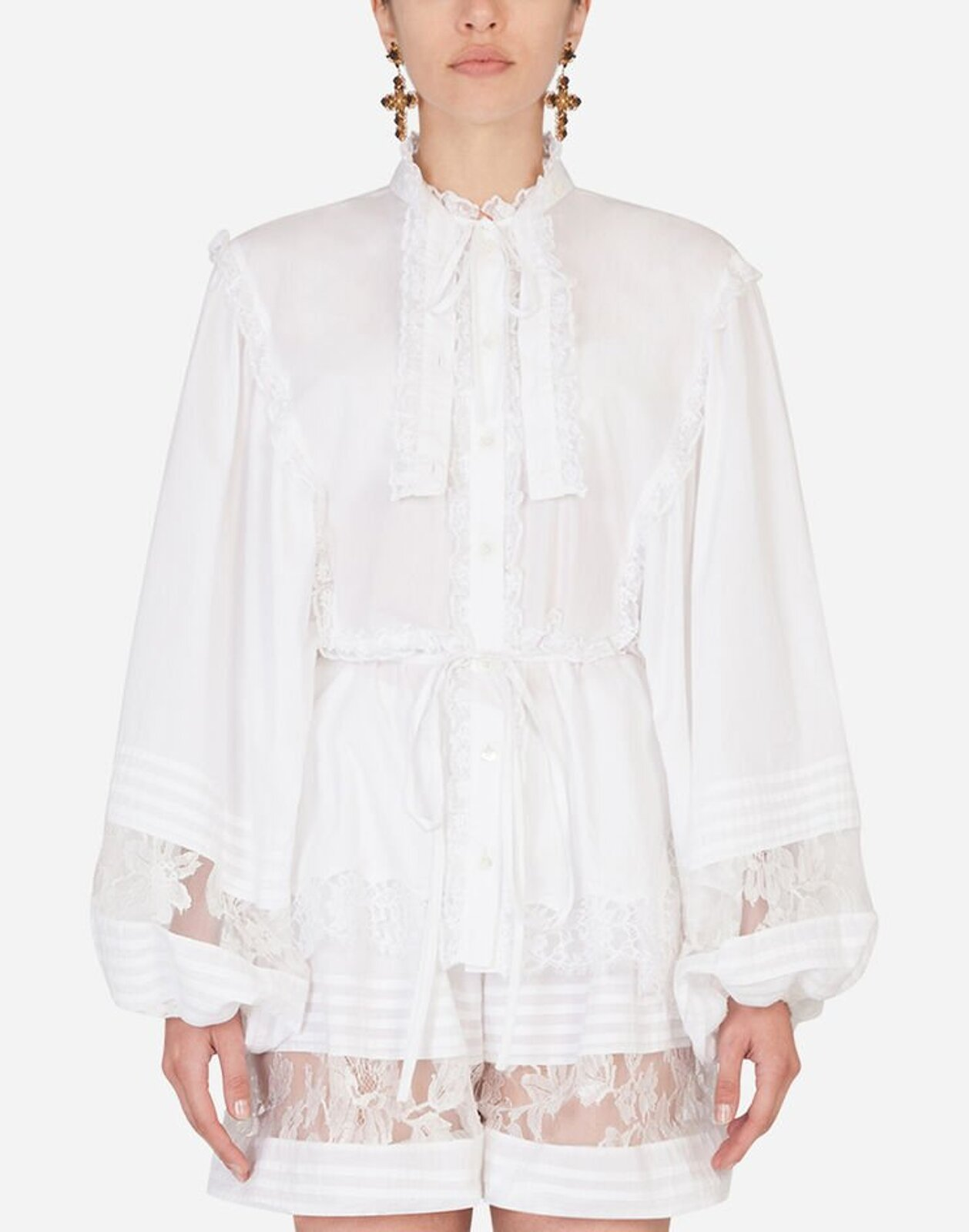 Blouse With Puff Sleeves - Dolce & Gabbana