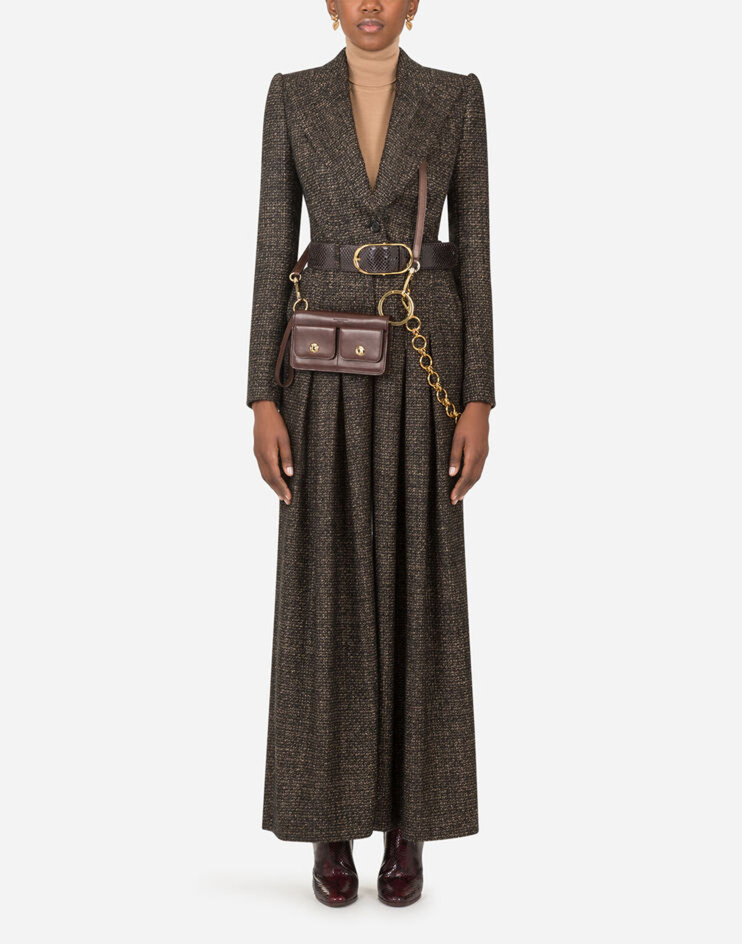 Tuta In Tweed Microfantasia - Dolce & Gabbana