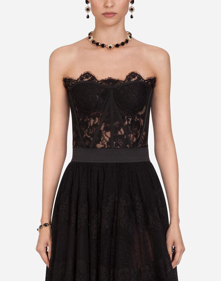 Short Bustier In Galon Lace - Dolce & Gabbana