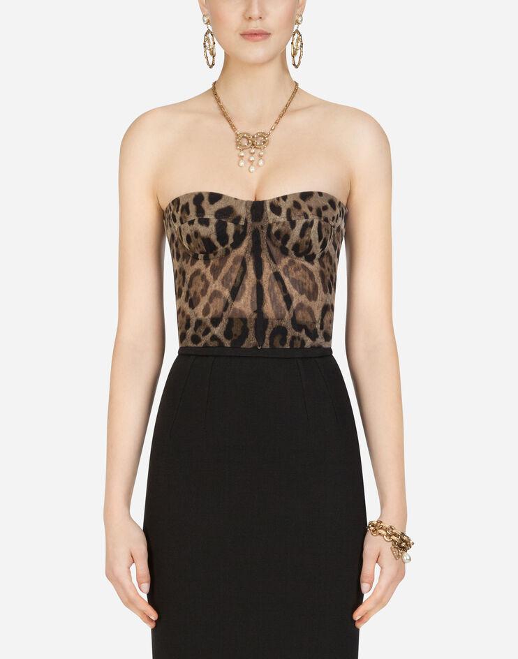 Leopard Print Tulle Bustier - Dolce & Gabbana