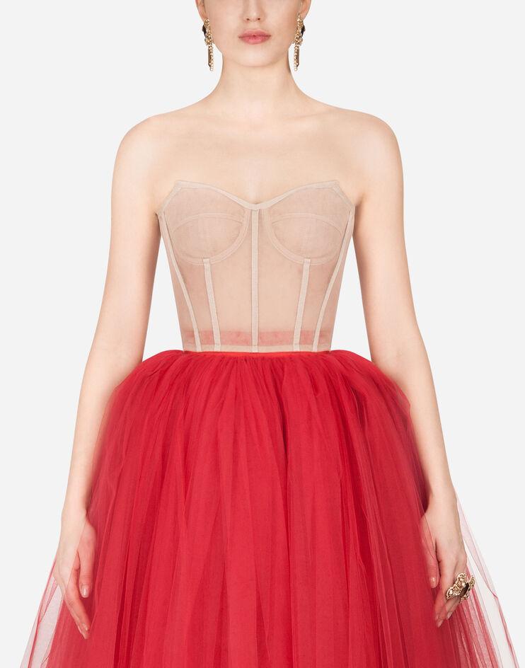 Short Bustier In Tulle - Dolce & Gabbana