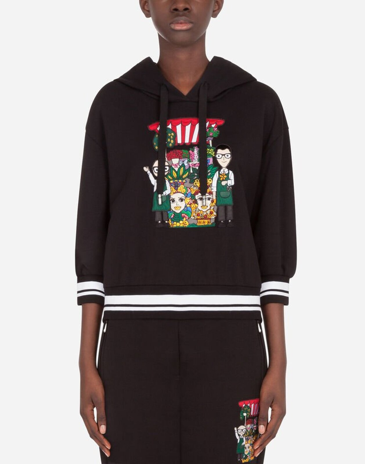 Jersey Sweatshirt With Dg Family Patch - Dolce & Gabbana