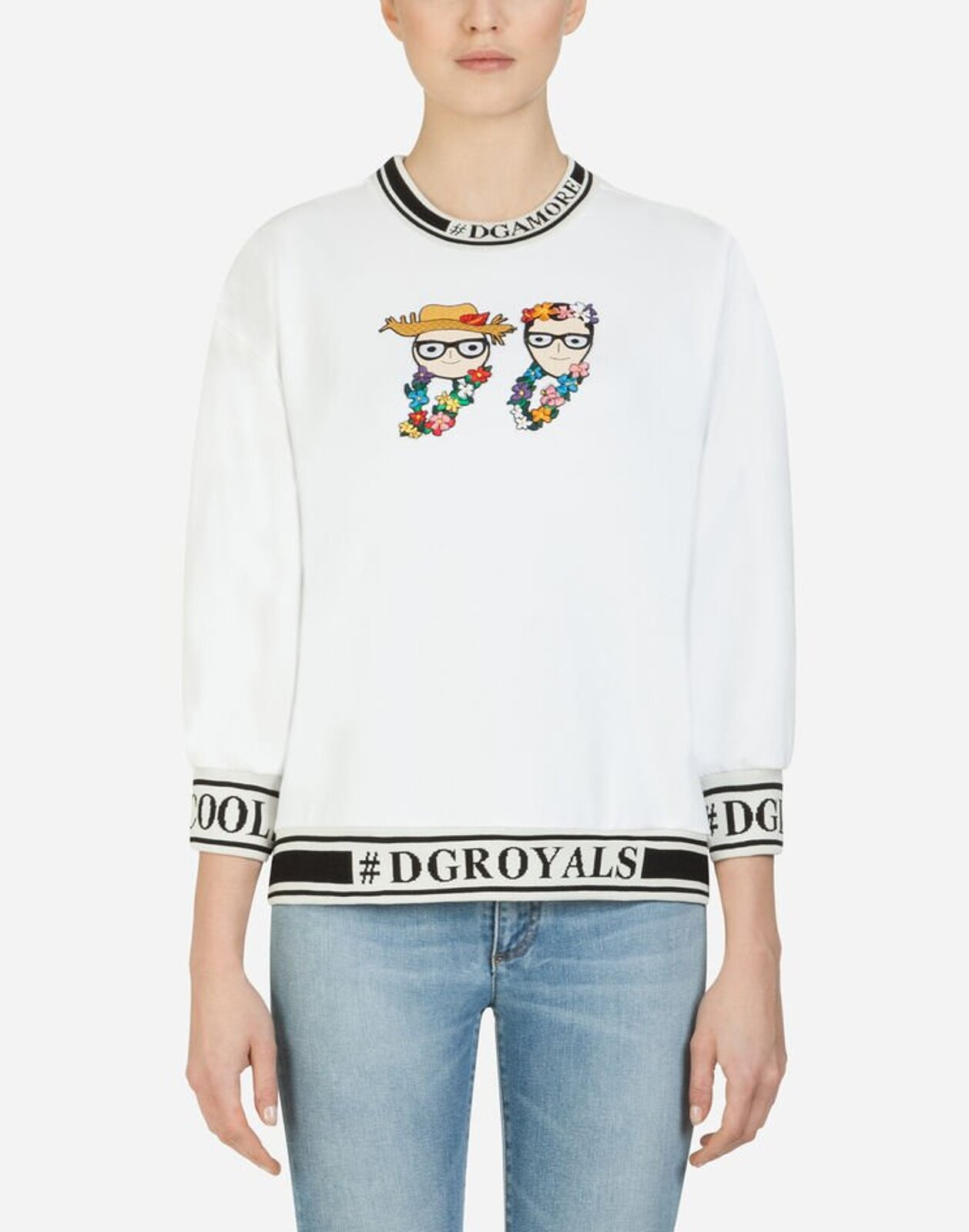 Crewneck Sweatshirt With Stylists Patches - Dolce & Gabbana