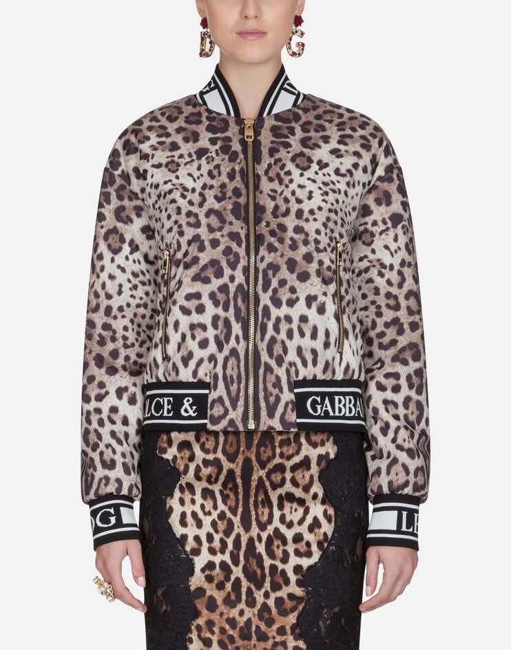 Bomber In Nylon Leggero Stampato - Dolce & Gabbana