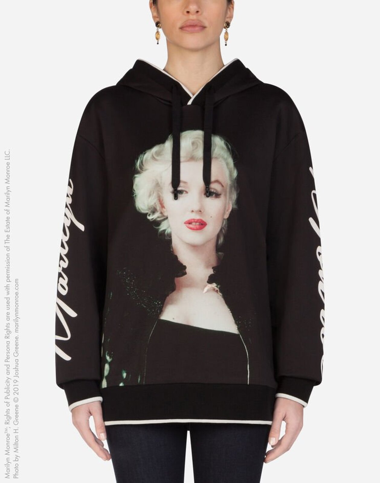 Sweatshirt In Jersey With Hood Marilyn Monroe Print - Dolce & Gabbana
