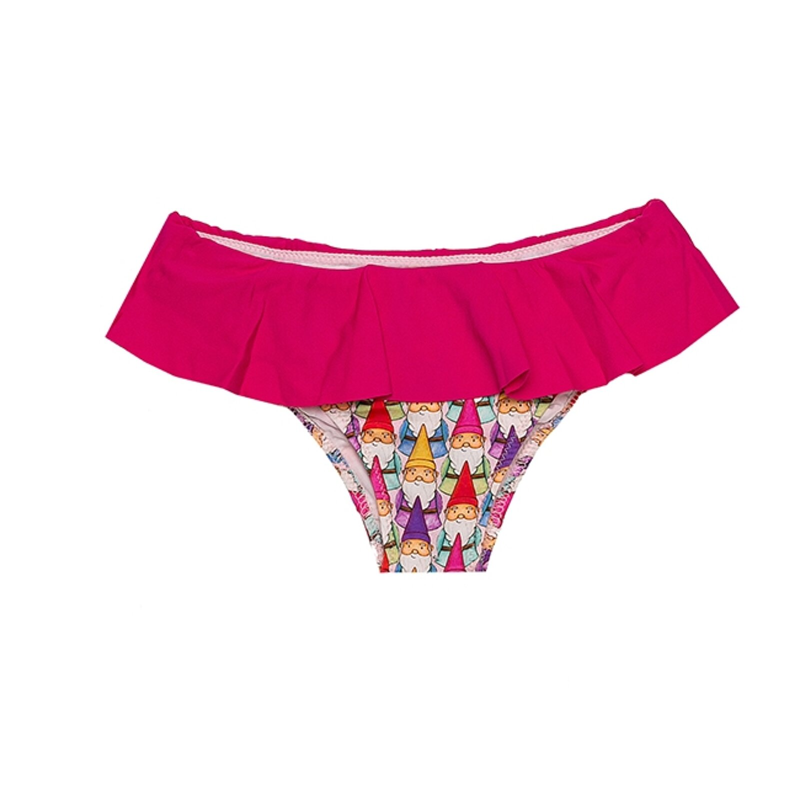 Slip Mare Bimba Con Balza Rosa Con Gnomi - MC2 Saint Barth Junior