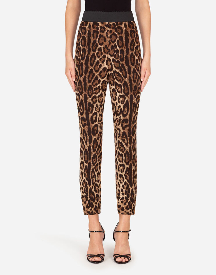 Leggings In Cady Stampa Leopardo - Dolce & Gabbana