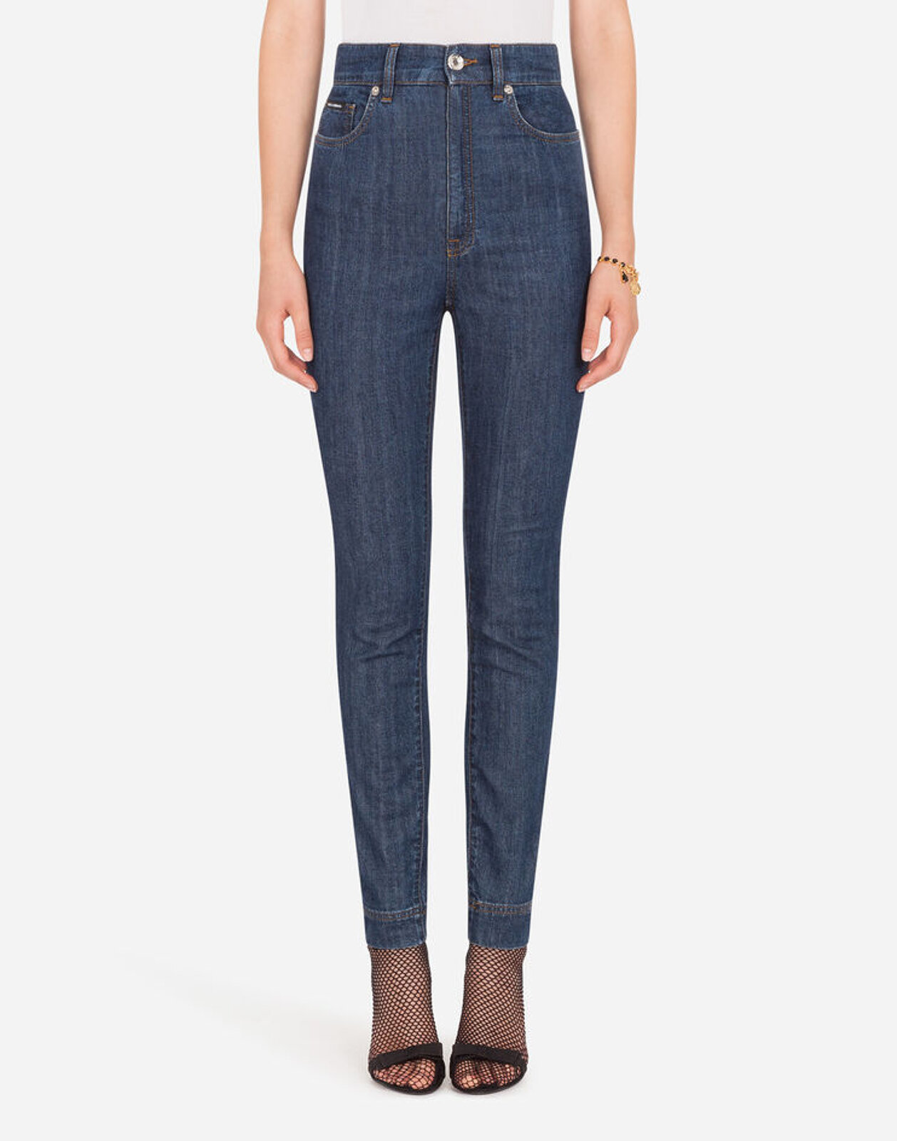 Jeans Vita Alta In Denim Stretch - Dolce & Gabbana