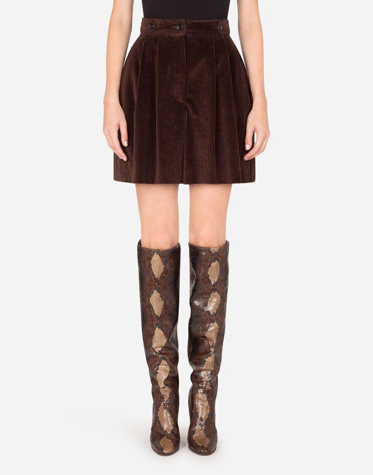 Shorts Vita Alta In Velluto A Coste - Dolce & Gabbana