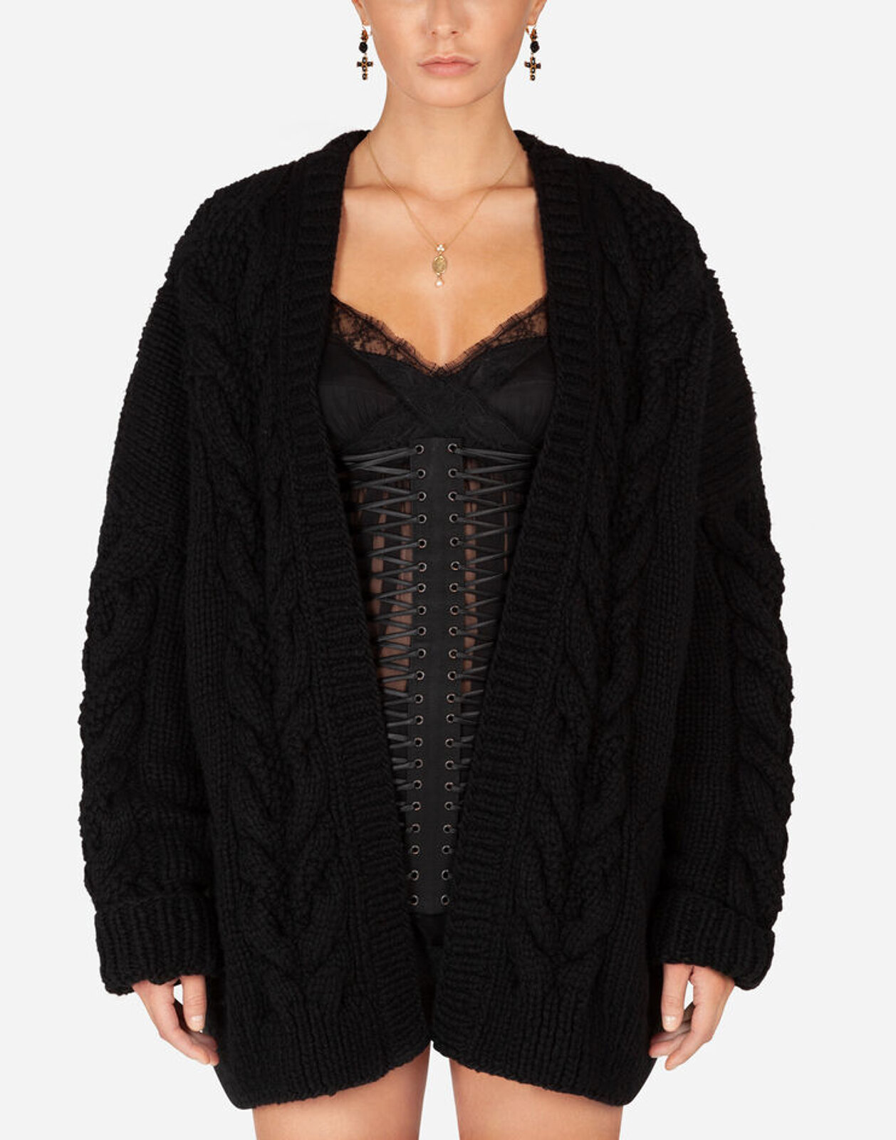 Long Sleeved Wool And Cashmere Cardigan - Dolce & Gabbana