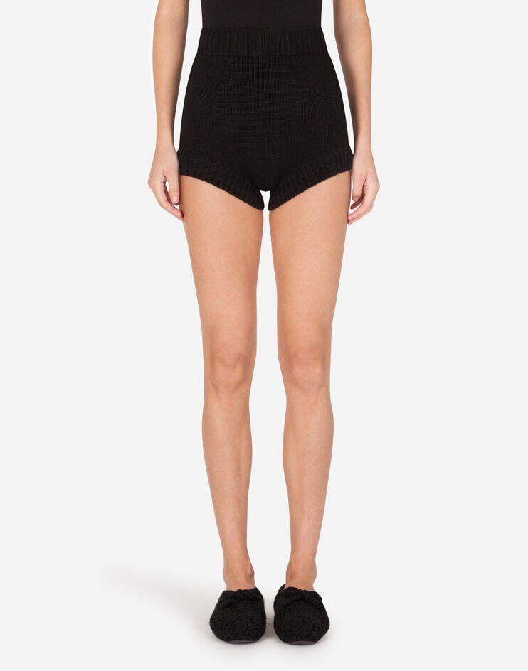 Shorts Vita Alta In Maglia - Dolce & Gabbana