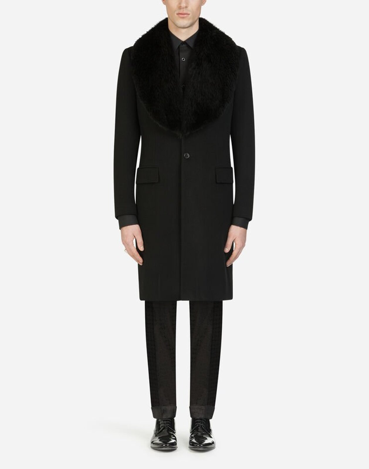 Wool And Cashmere Cloth Coat - Dolce & Gabbana
