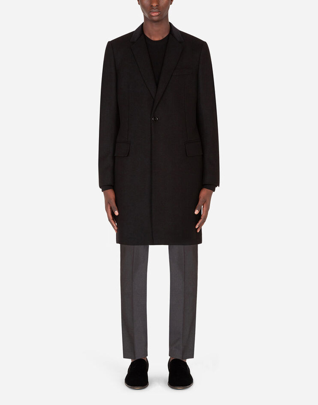 Wool And Cashmere Coat - Dolce & Gabbana