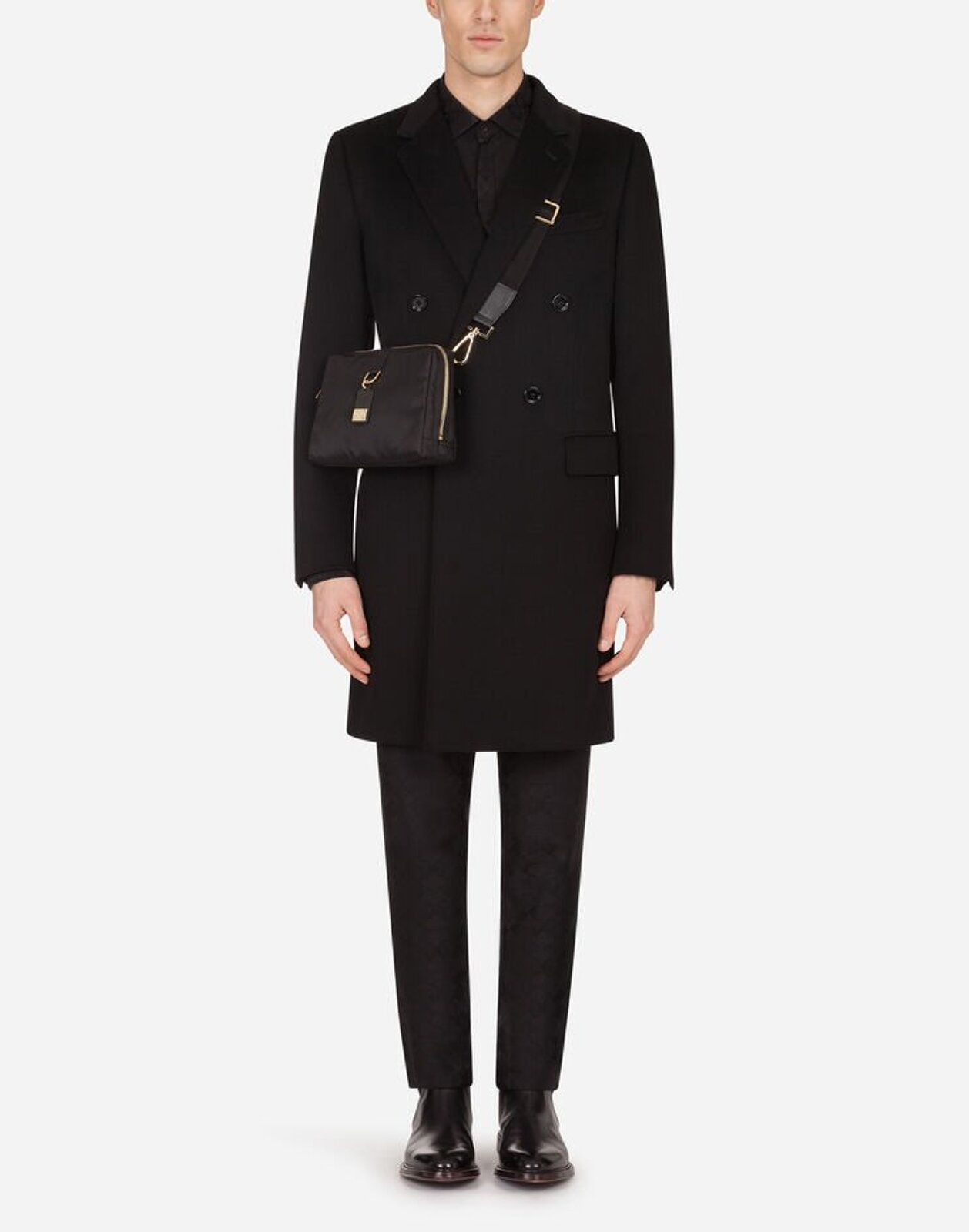 Double-Breasted Wool And Cashmere Coat - Dolce & Gabbana