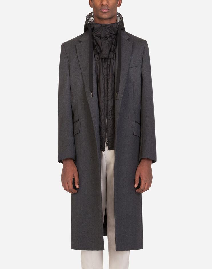 Cappotto Lana Con Gilet Trapuntato Removibile - Dolce & Gabbana