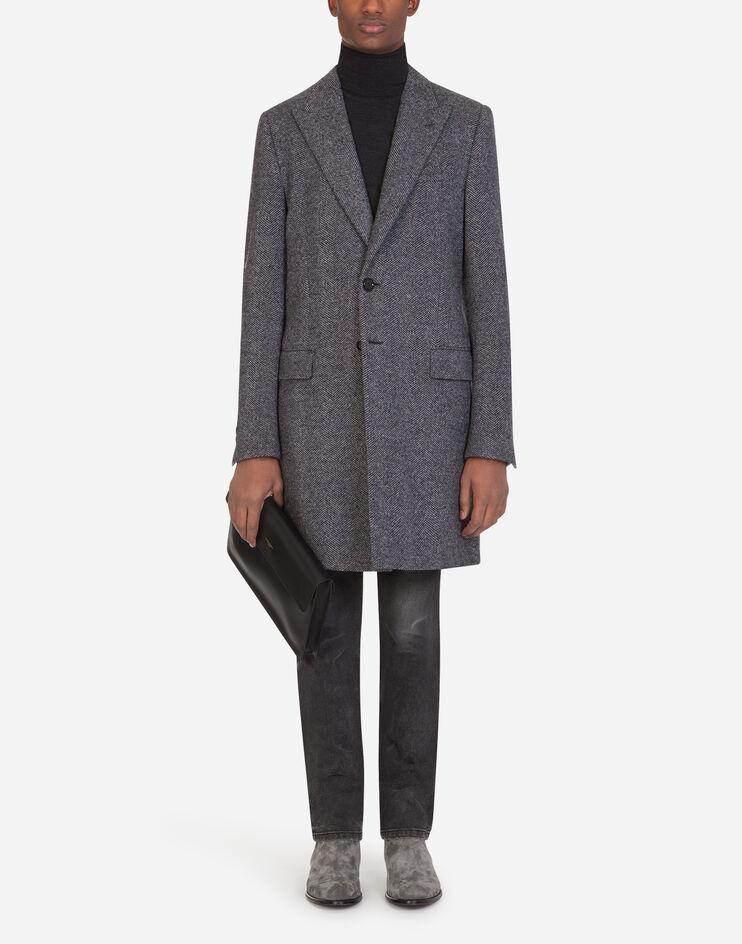 Chevron Wool Coat - Dolce & Gabbana