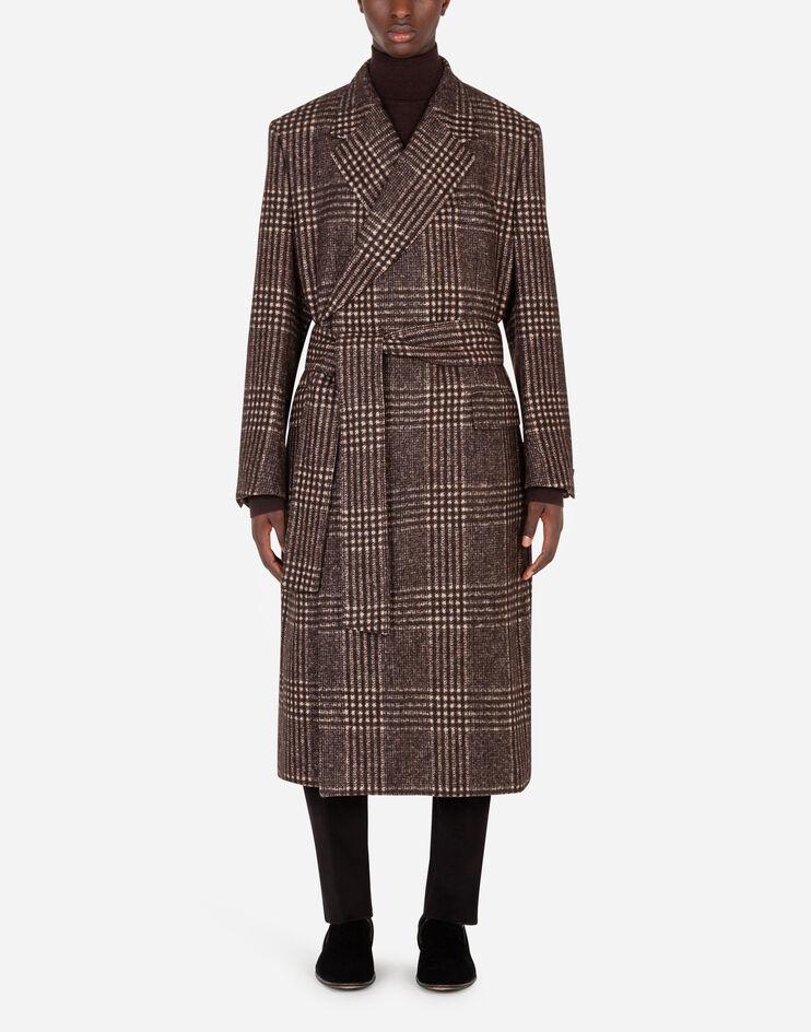 Prince Of Wales Wool Coat - Dolce & Gabbana