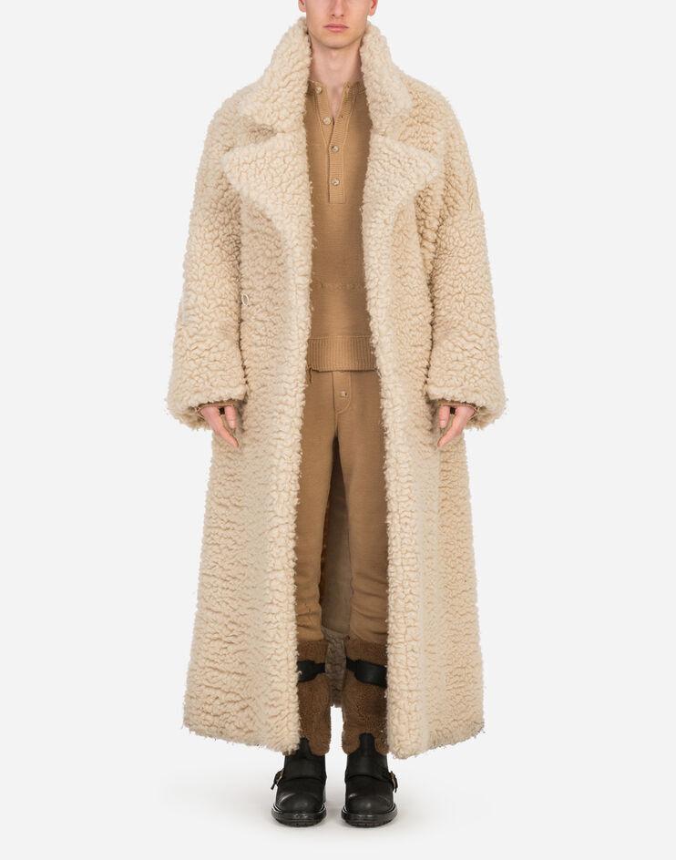 Single Breasted Coat In Sheepskin - Dolce & Gabbana