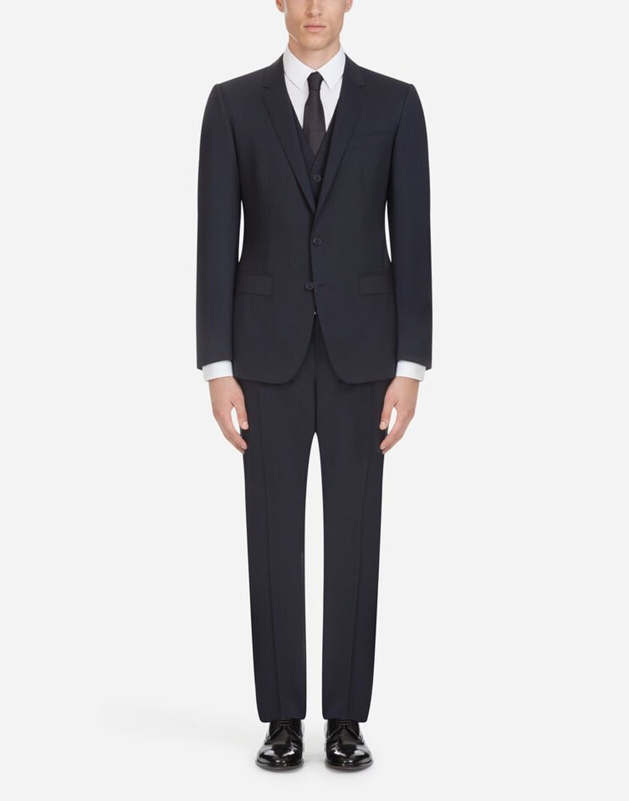 Stretch Wool Canvas Suit - Dolce & Gabbana