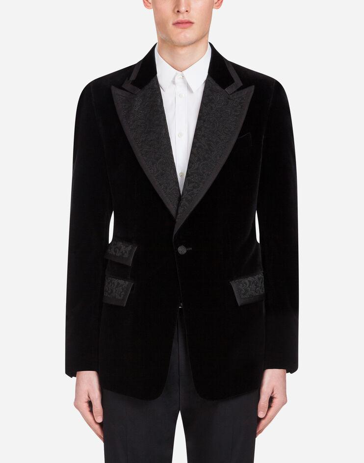 Giacca Casino' Tuxedo In Velluto - Dolce & Gabbana