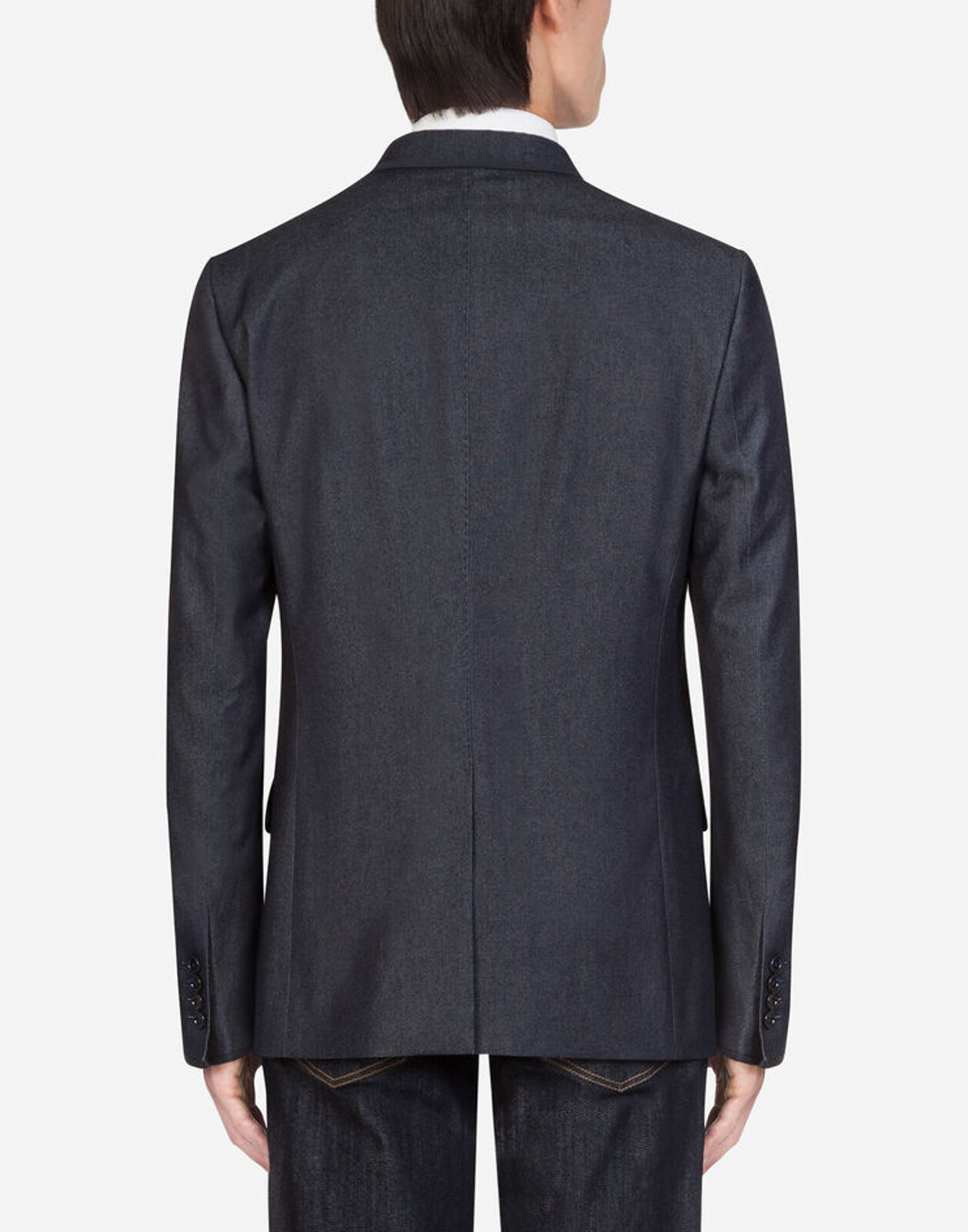 Stretch Cotton And Silk Jacket With Patch - Dolce & Gabbana