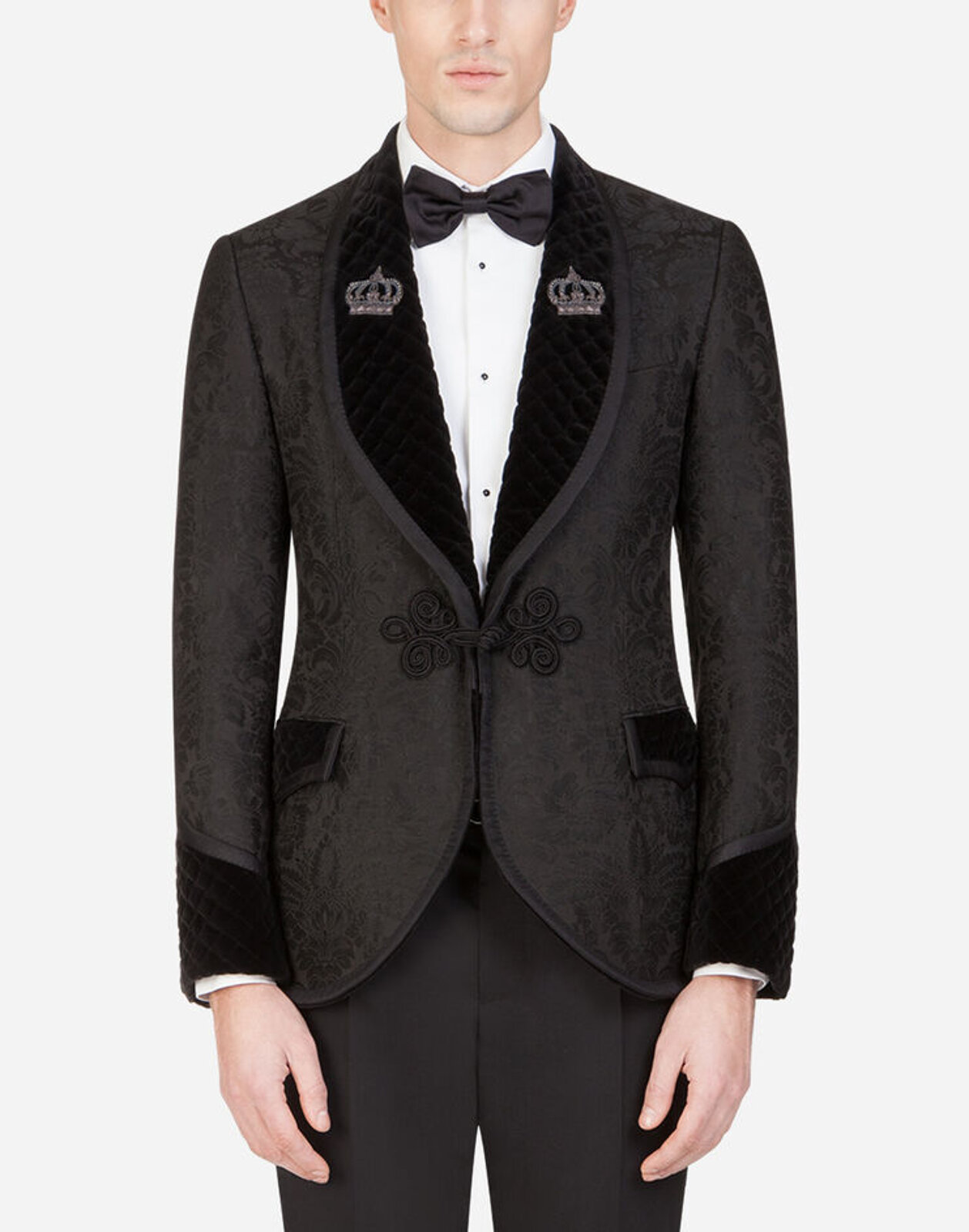 Jacquard Tuxedo Room Jacket With Patch - Dolce & Gabbana