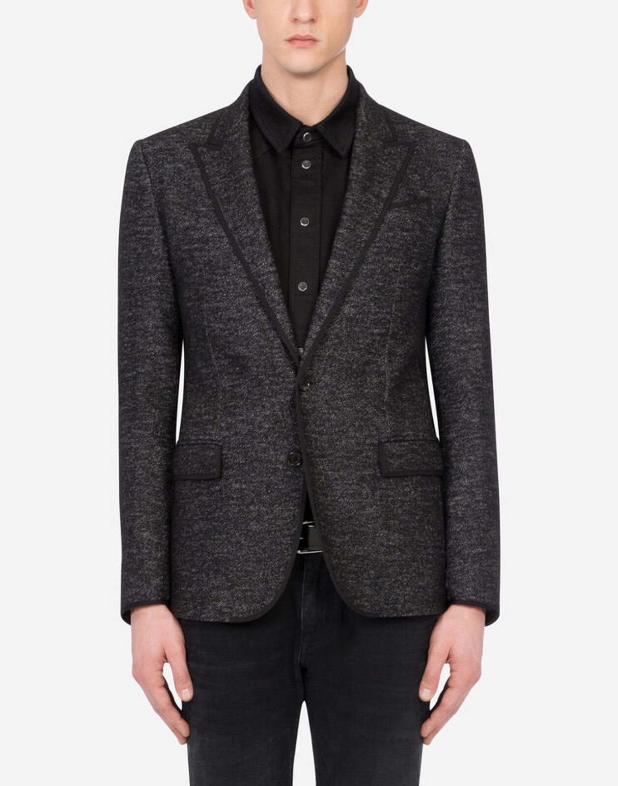 Deconstructed Jacket In Microfantasia Jersey - Dolce & Gabbana