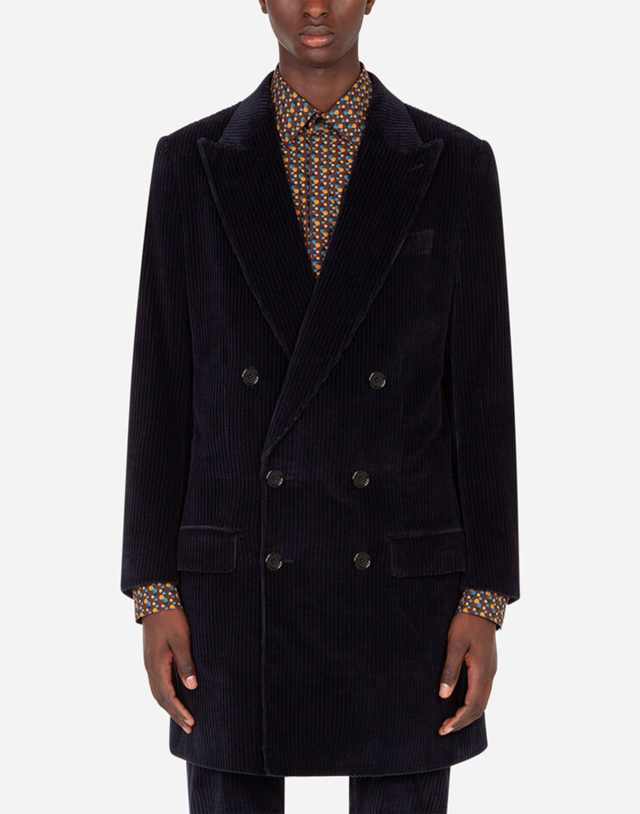 Double Breasted Corduroy Coat - Dolce & Gabbana