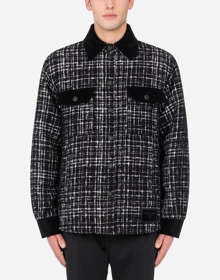 Giubbotto Tweed Con Dettagli In Velluto - Dolce & Gabbana