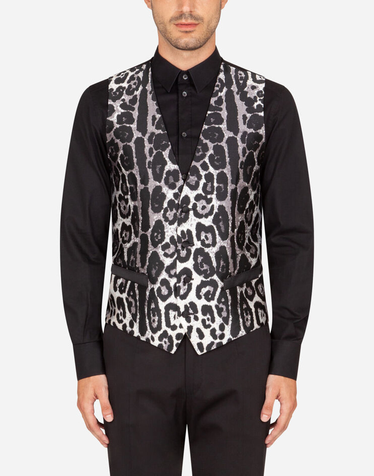 Gilet Jacquard Leopardo - Dolce & Gabbana