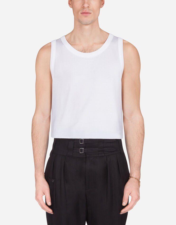 Cotton Jersey Tank Top - Dolce & Gabbana