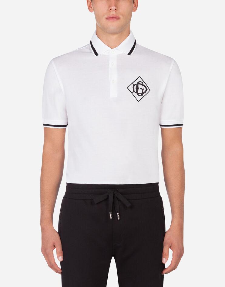 Polo In Cotone Con Logo Dg - Dolce & Gabbana