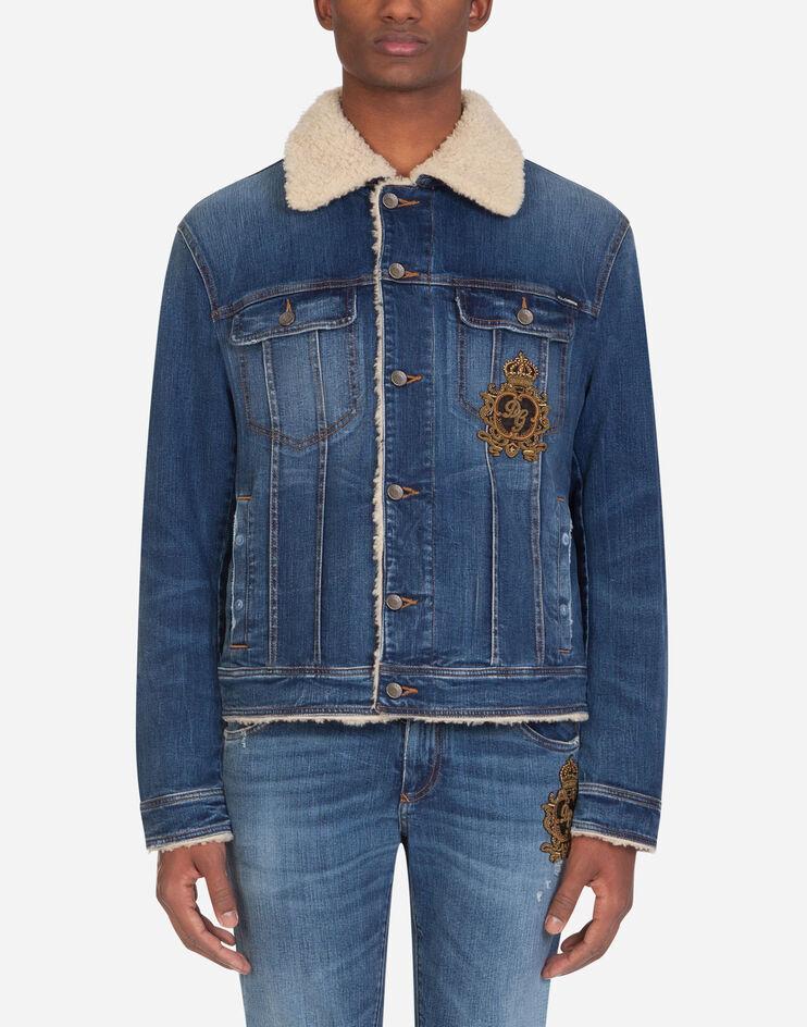 Giubbotto Jeans Stretch Con Patch - Dolce & Gabbana