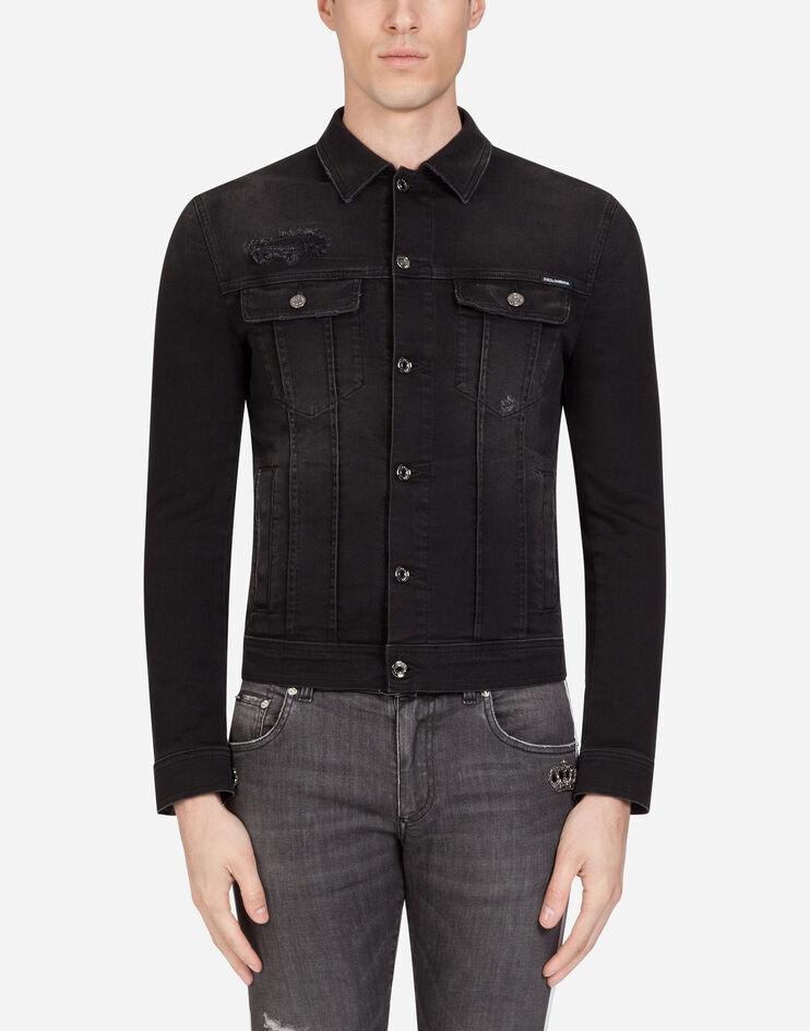 Giubbotto Jeans Stretch Lavato - Dolce & Gabbana
