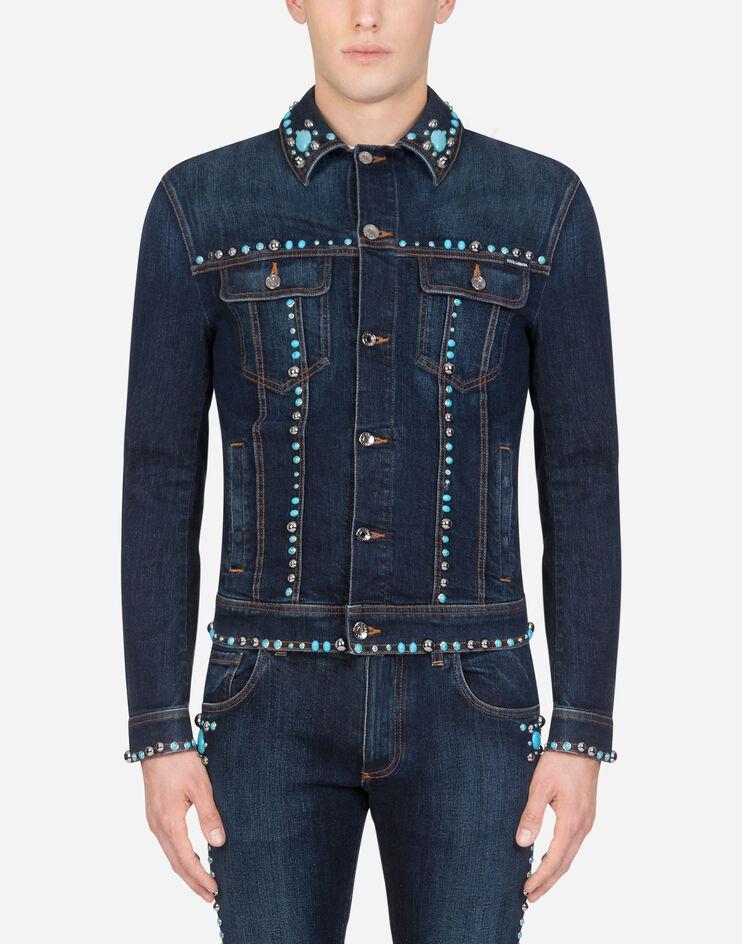Giubbotto Jeans Con Borchie - Dolce & Gabbana
