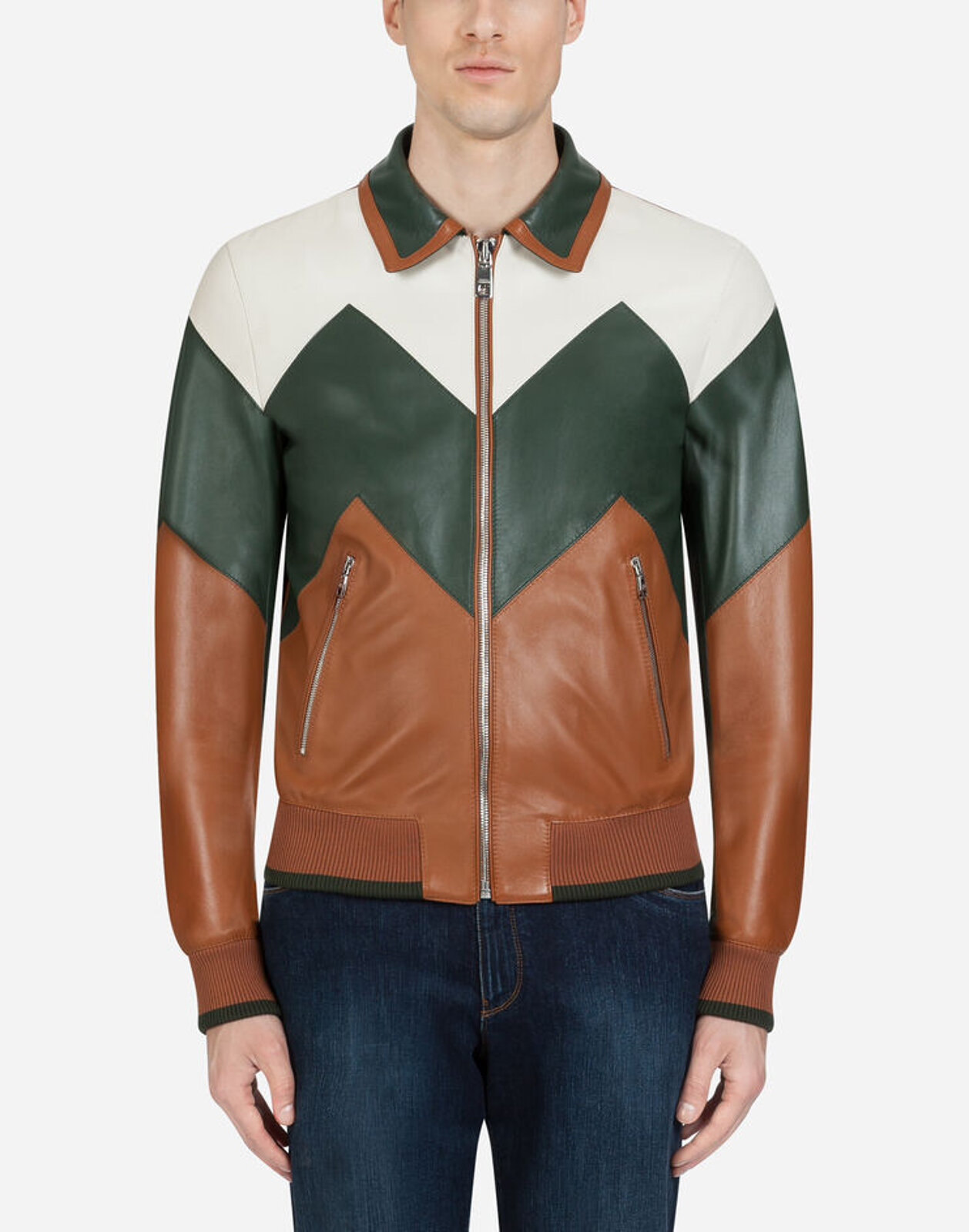 Multicolored Leather Jacket - Dolce & Gabbana