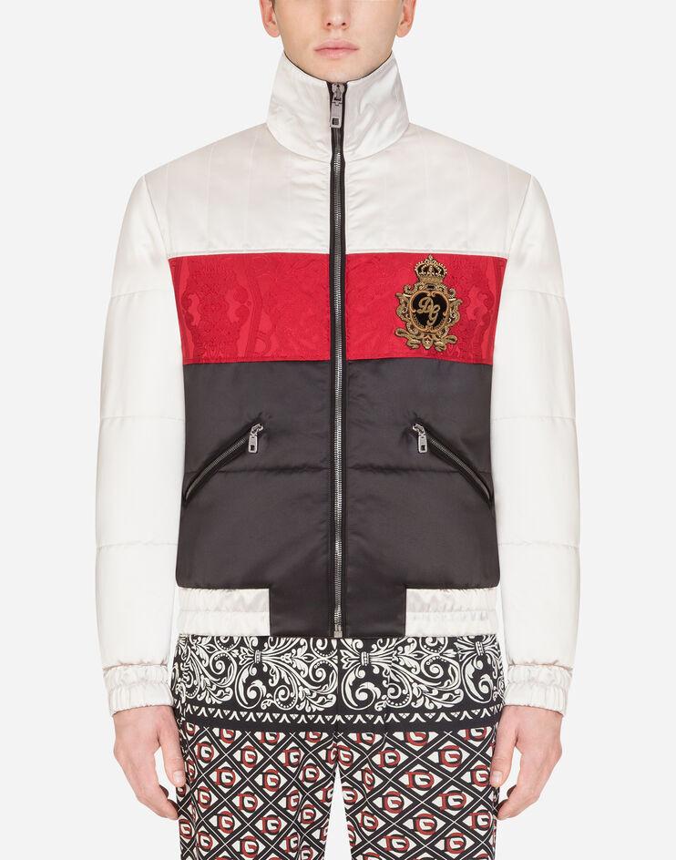 Giubbotto Nylon Trapuntato Con Patch - Dolce & Gabbana