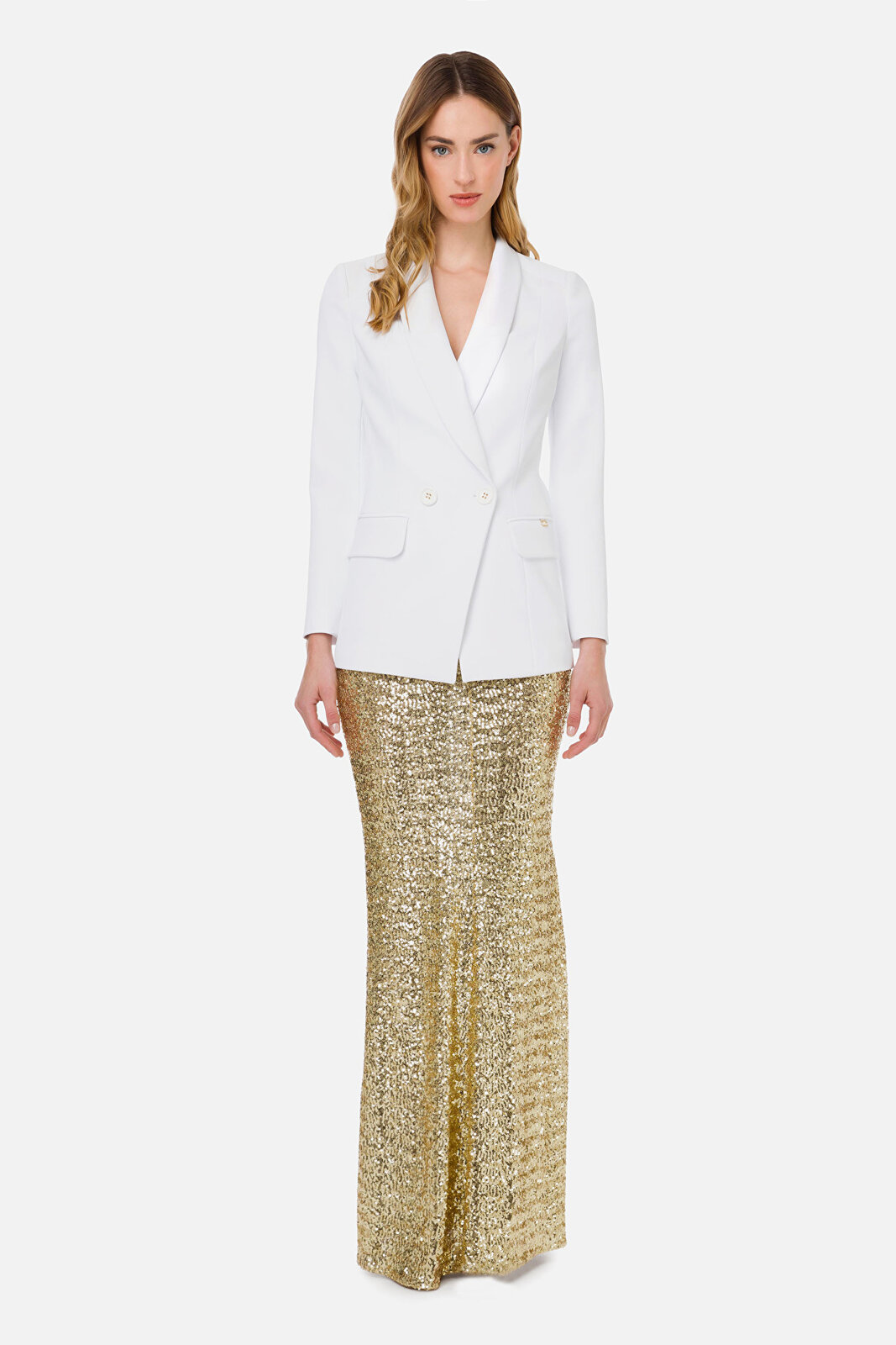 Jacket With Double Button And Revers - Elisabetta Franchi