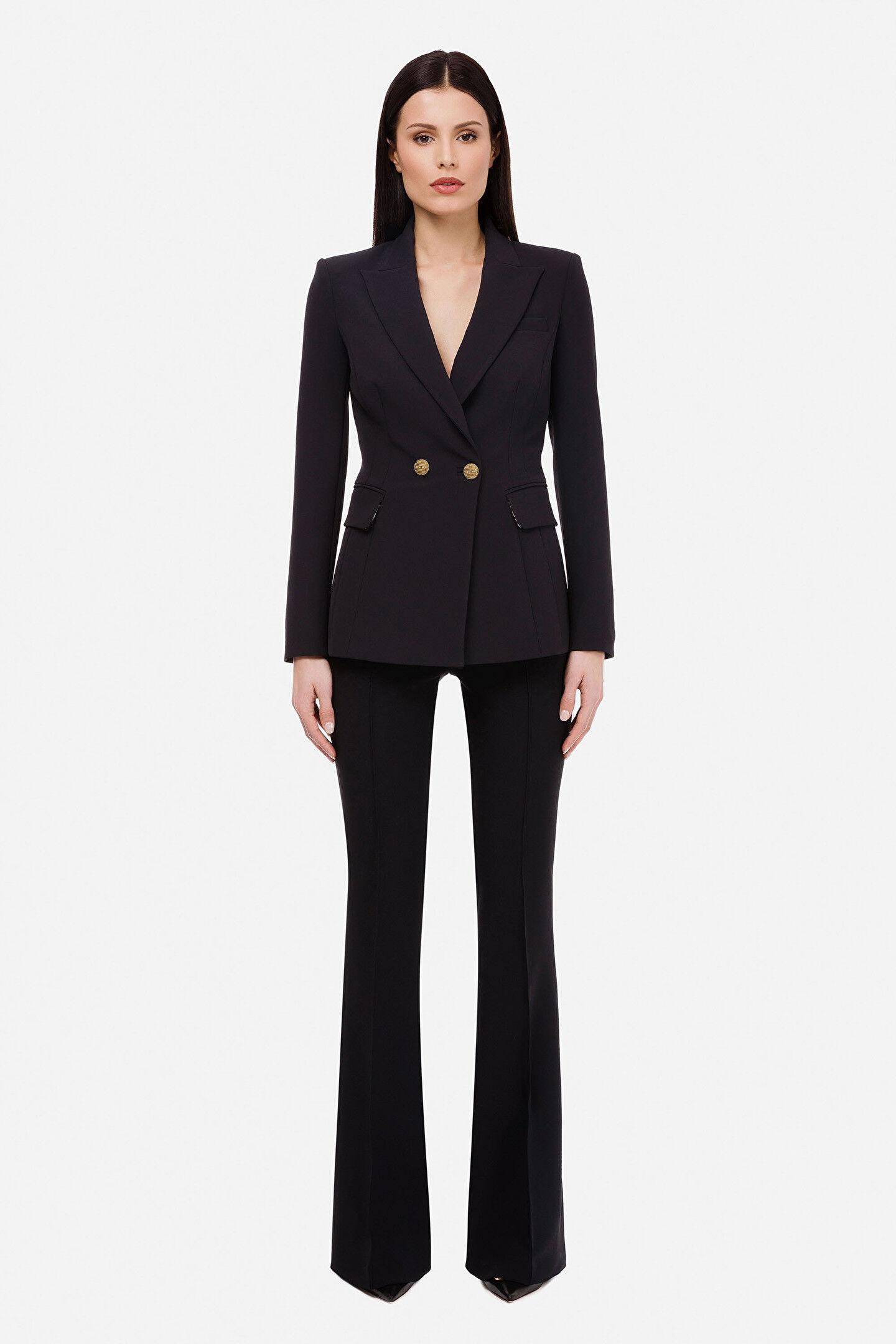 Jacket With Revers - Elisabetta Franchi