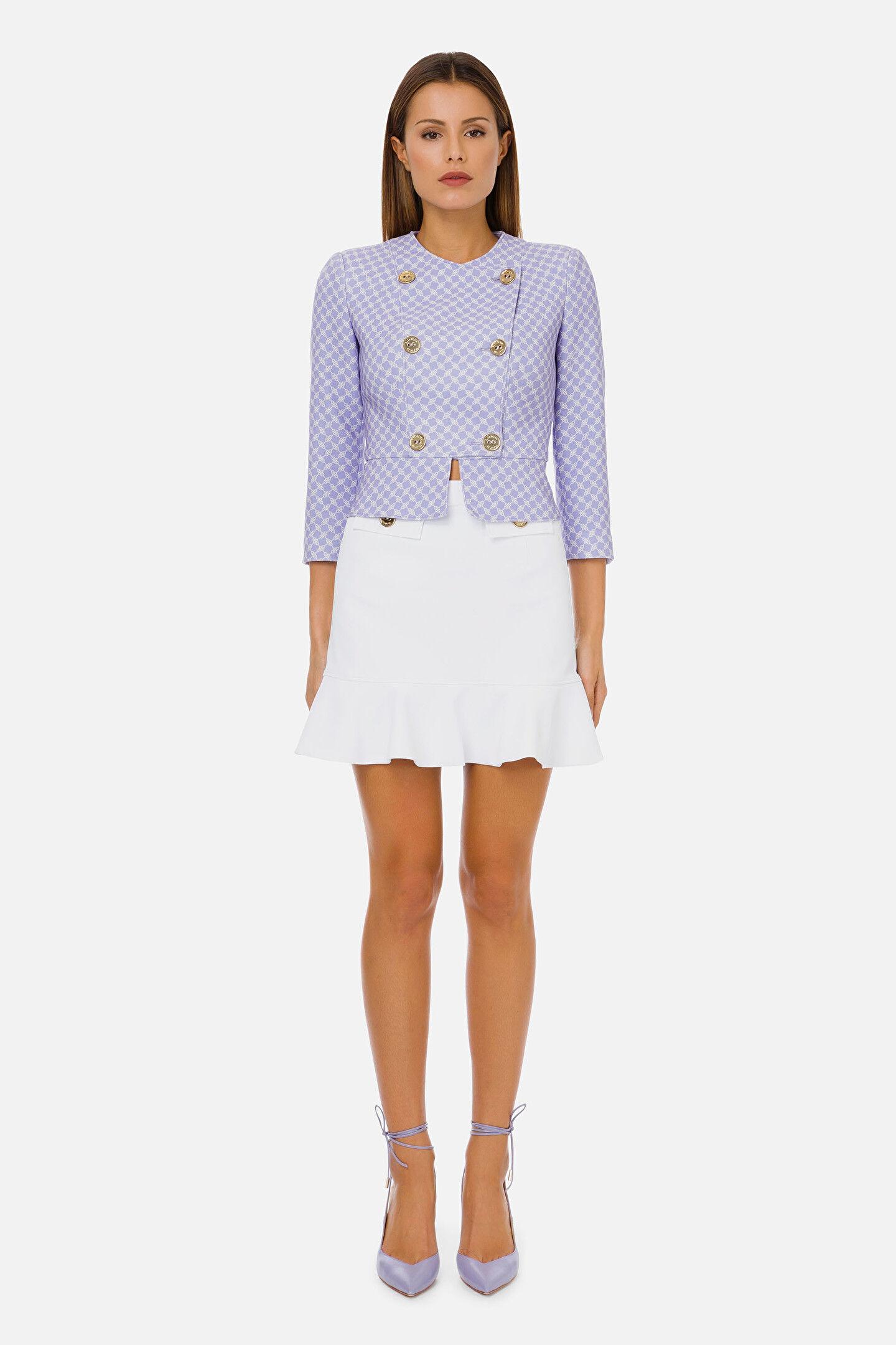Double-Breasted Short Jacket Elisabetta Franchi - Elisabetta Franchi