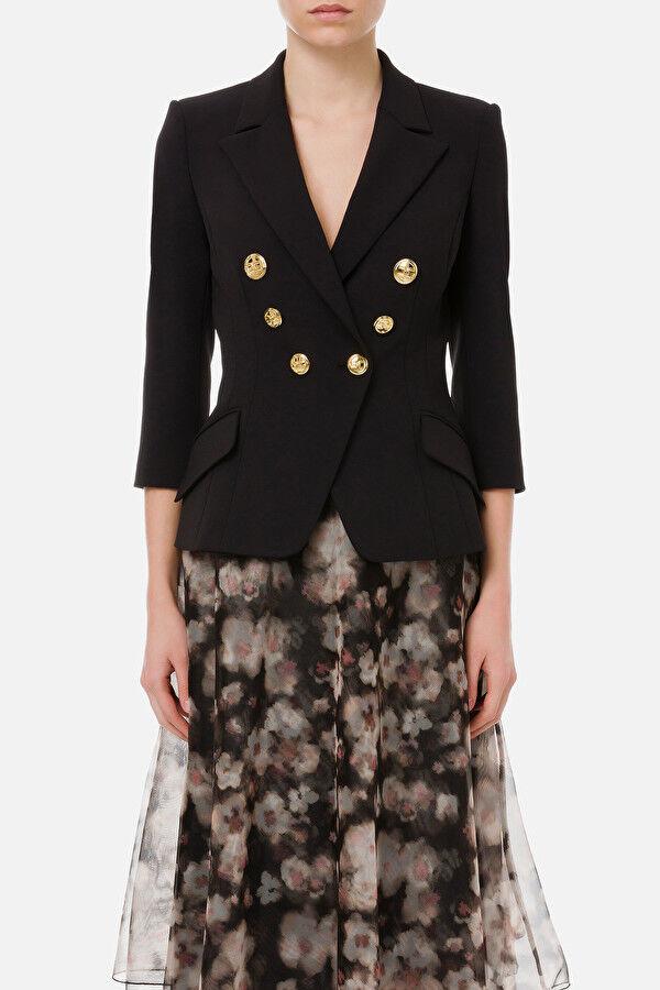 Short Jacket With Light Gold Buttons - Elisabetta Franchi