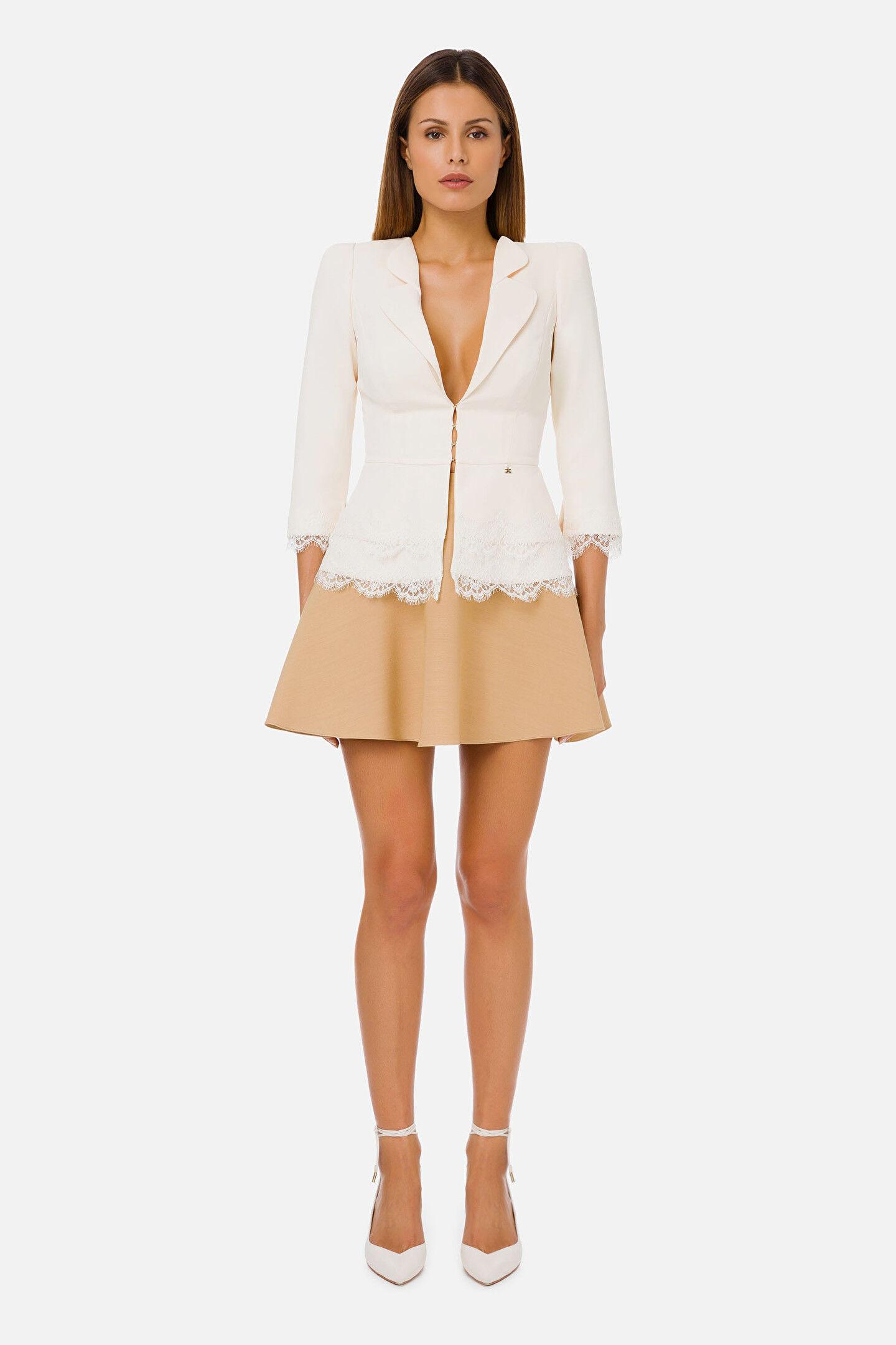 Elegant Lace Jacket Elisabetta Franchi - Elisabetta Franchi
