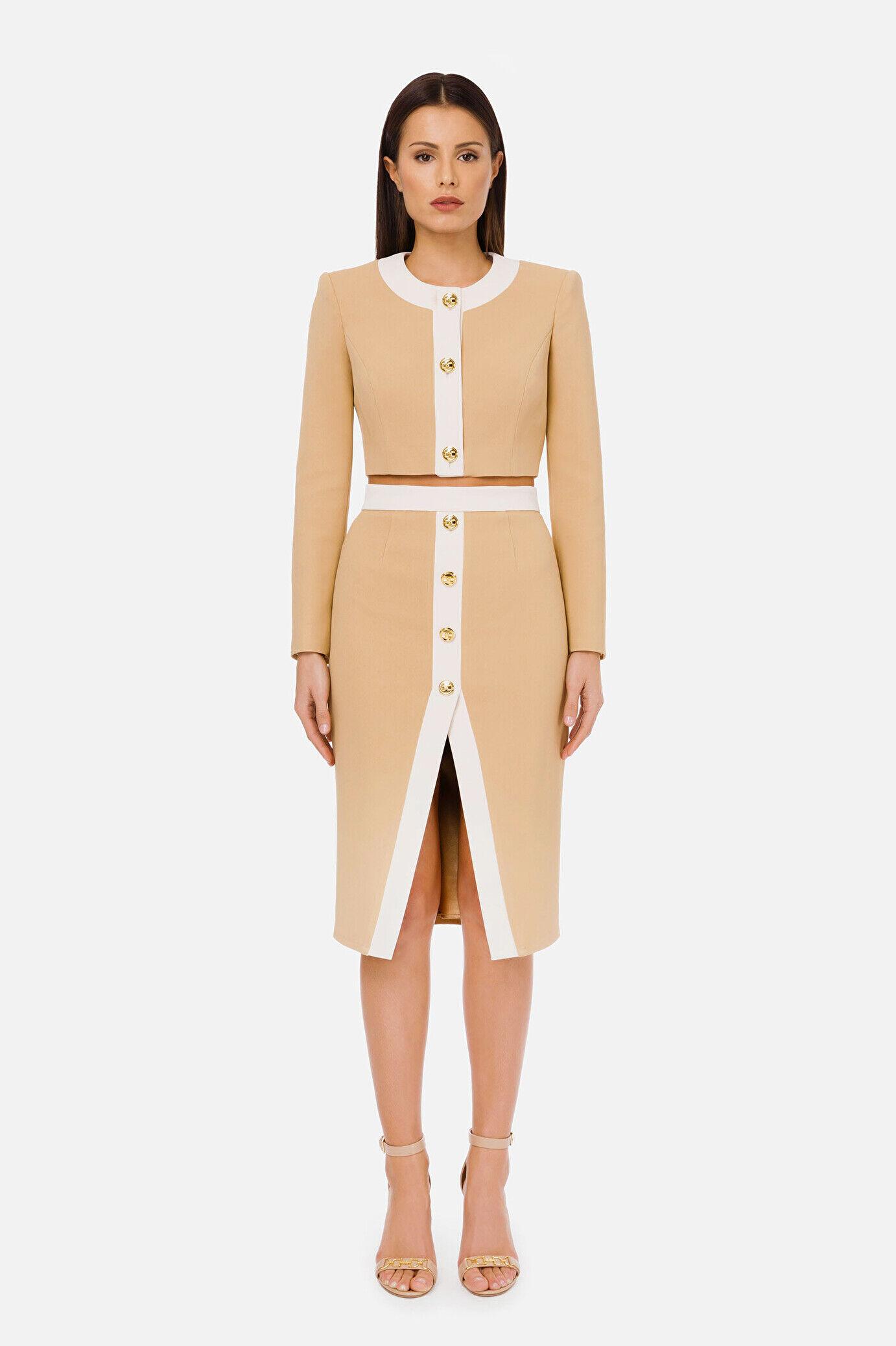 Short Bicolor Jacket - Elisabetta Franchi