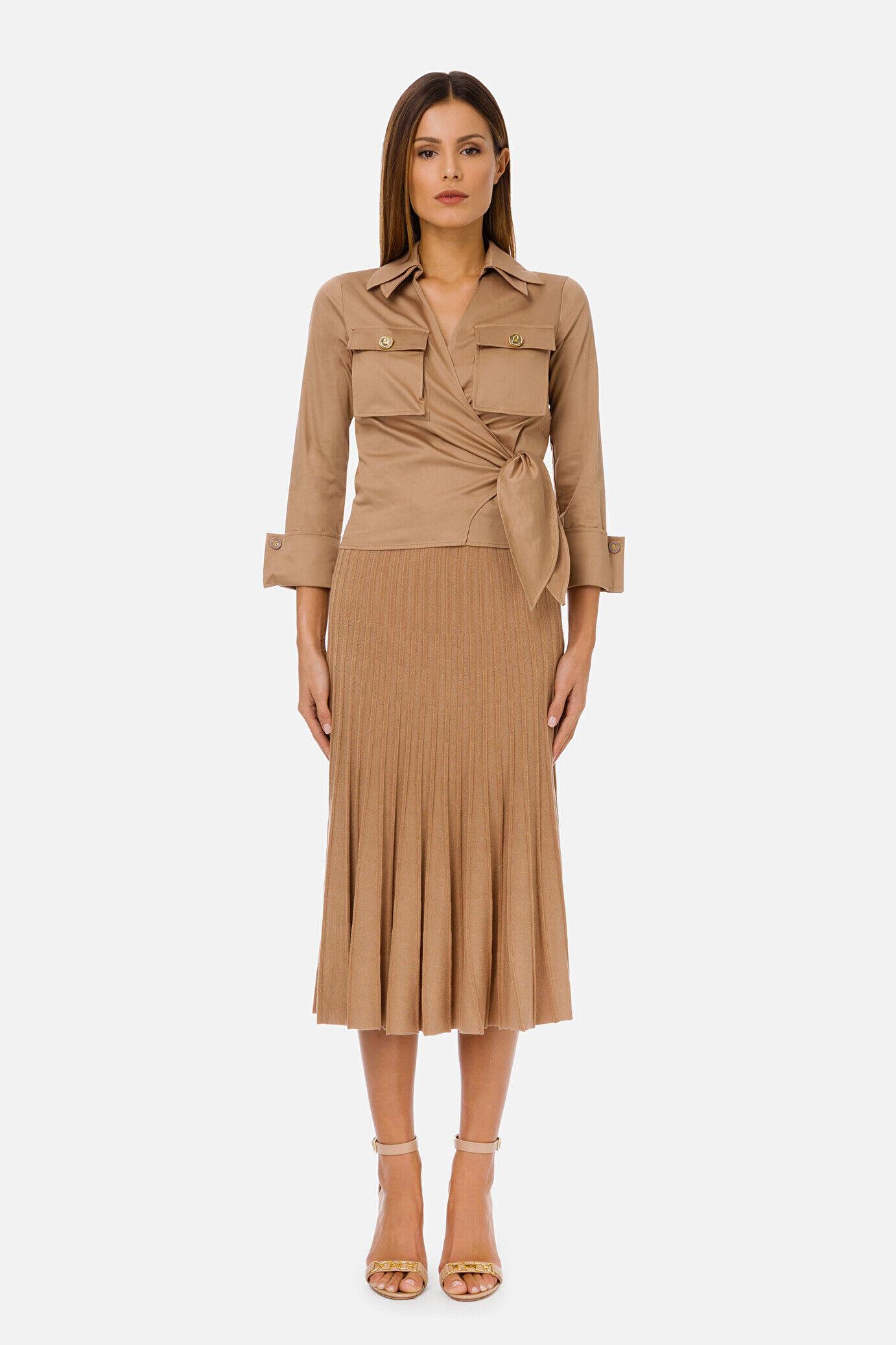 Pleated Knitted Skirt - Elisabetta Franchi