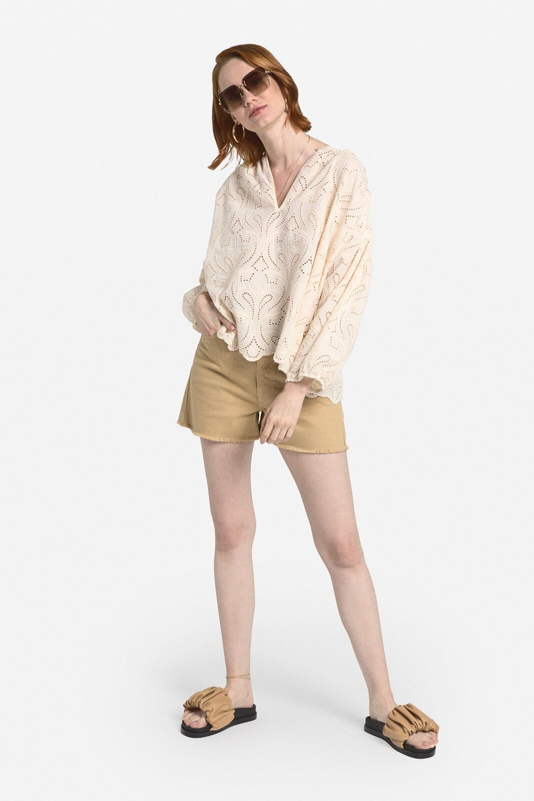 Embroidered Cotton Flared Sweater - ottod'Ame