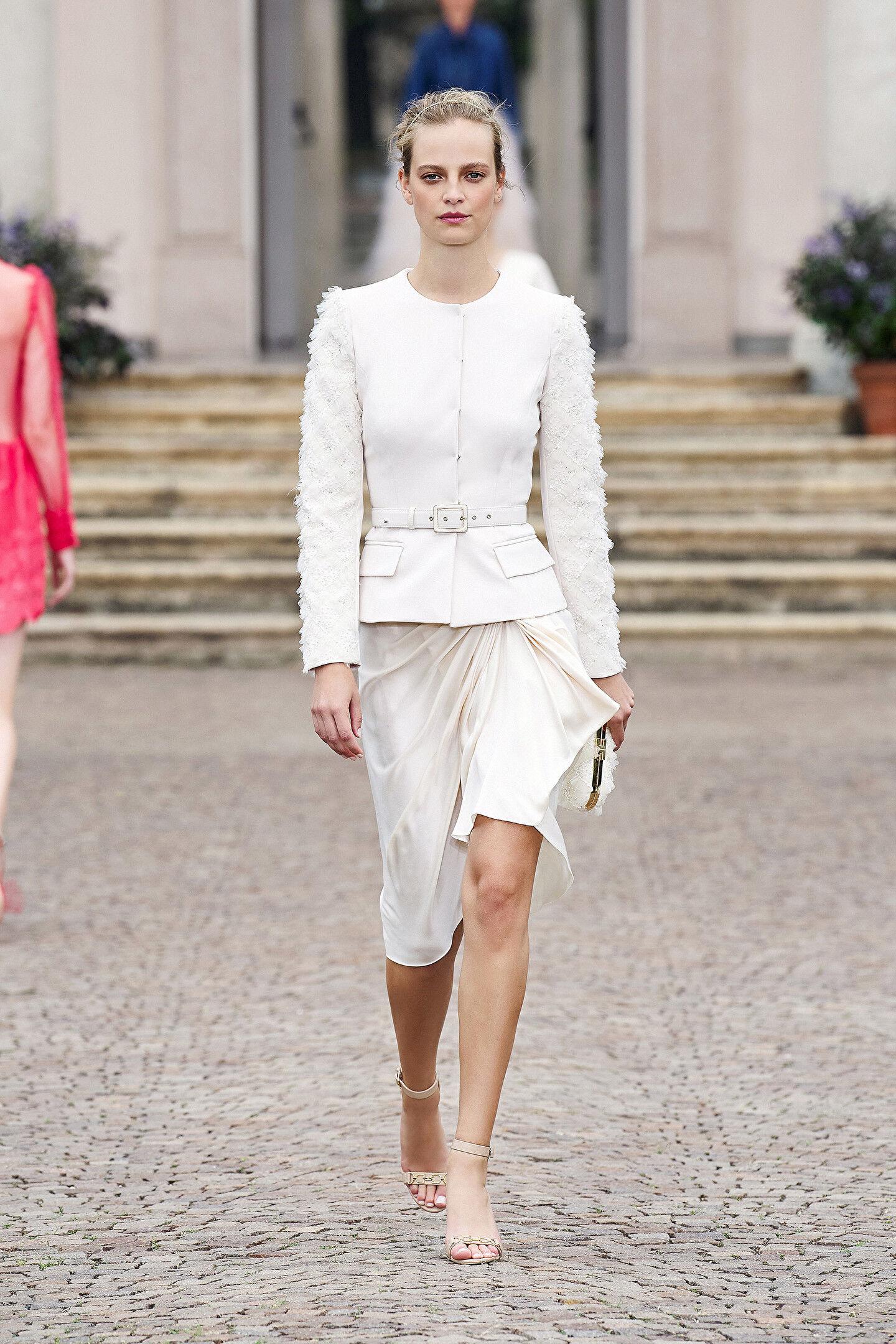 Silk Skirt With Rouches - Elisabetta Franchi