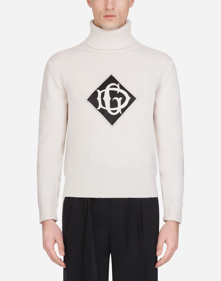 Maglia Collo Alto In Lana Con Patch - Dolce & Gabbana