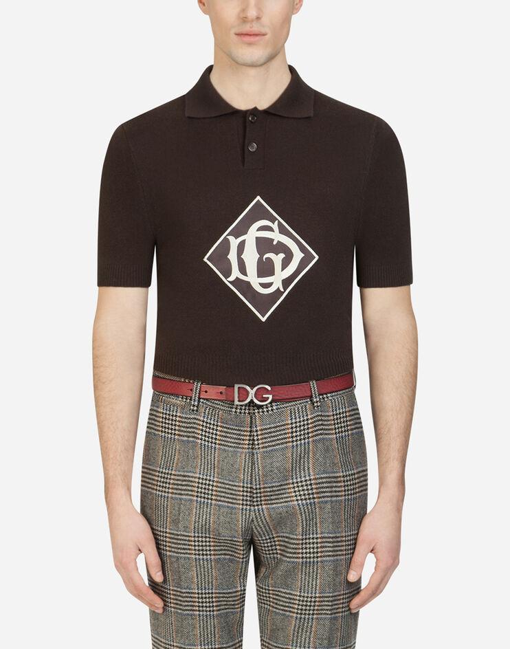 Maglia Polo In Lana Con Patch - Dolce & Gabbana