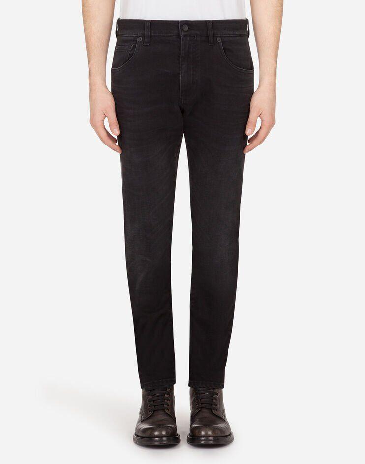 Slim Stretch Washed Black Jeans - Dolce & Gabbana
